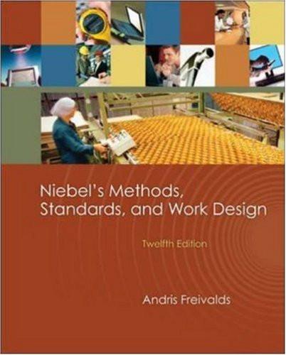 Niebel's Methods Standards And Work Design