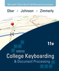 Gregg College Keyboarding And Document Processing Kit 2 Lessons 61-120