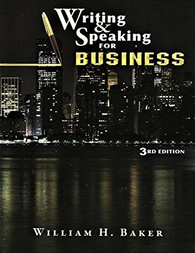 Writing and Speaking for Business