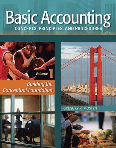 Basic Accounting Concepts Principles & Procedures Volume 1
