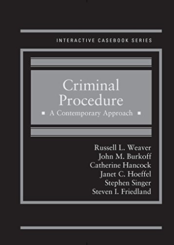 Criminal Procedure A Contemporary Approach