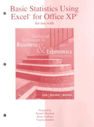 Basic Statistics Using Excel for Statistical Techniques in Business and Economics
