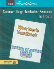 Traditions Warriner's Handbook Student Edition Grade 10 Fourth Course