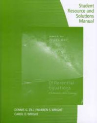 Student Resource and Solutions Manual for Zill and Cullen's Differential