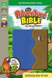 NIrV Adventure Bible for Early Readers Imitation Leather Blue/Tan Full Color
