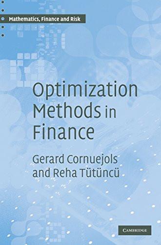 Optimization Methods in Finance