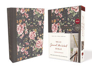 NKJV Journal the Word Bible Cloth over Board Gray Floral Red Letter Edition