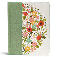 CSB Notetaking Bible Sage Cloth Over Board