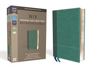 NIV Personal Size Reference Bible Large Print Leathersoft Blue Red Letter