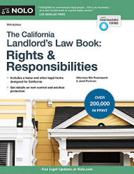 California Landlord's Law Book The