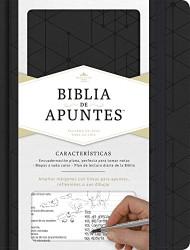 RVR 1960 Biblia de apuntes negro s?mil piel