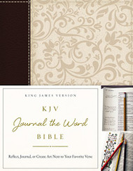 KJV Journal the Word Bible Imitation Leather Brown/Cream Red Letter Edition
