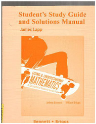 Student Study Guide And Solutions Manual For Using And Understanding Mathematics