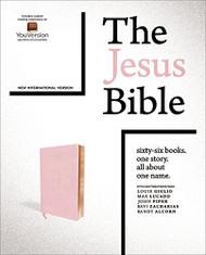 Jesus Bible NIV Edition Leathersoft over Board Pink Comfort Print