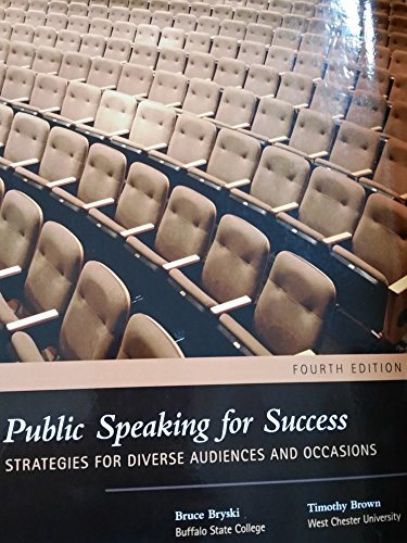 Public Speaking for Success Strategies for Diverse Audiences and Occassions