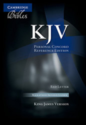 KJV Personal Concord Reference Bible red letter black and green two-tone