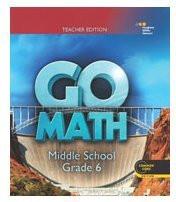 Go Math Teacher Edition Grade 6 2014