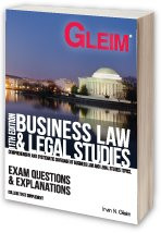 Gleim Business Law / Legal Studies - Exam Questions and Explanations