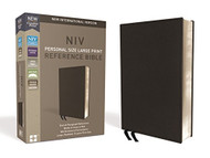 NIV Personal Size Reference Bible Large Print Premium Leather Calfskin
