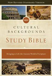 NRSV Cultural Backgrounds Study Bible Hardcover Comfort Print