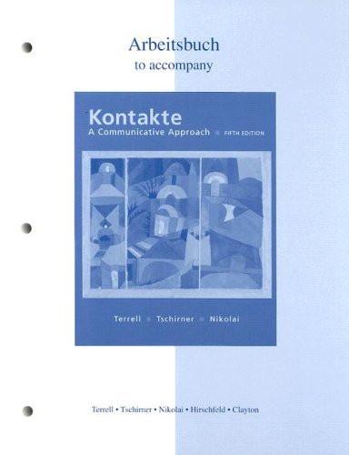 Workbook/Laboratory Manual To Accompany Kontakte