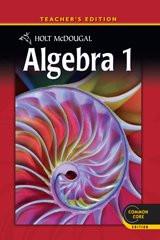 Holt McDougal Algebra 1 Teacher's Edition 2012