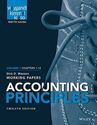 Accounting Principles Volume 1 Chapters - 12 Working Papers