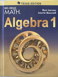BIG IDEAS MATH Algebra 1 Texas
