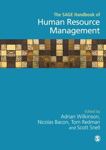 Sage Handbook Of Human Resource Management