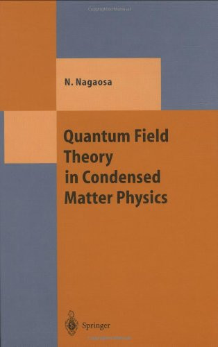 Quantum Field Theory In Condensed Matter Physics