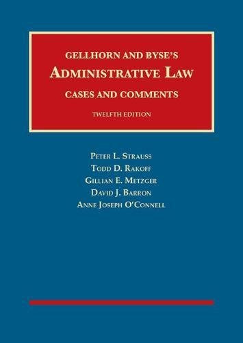 Administrative Law Cases and Comments