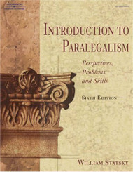 Introduction to Paralegalism  Perspectives Problems & Skills