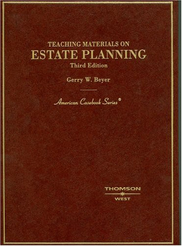 Teaching Materials on Estate Planning 4Th