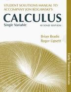 Single Variable Calculus Early Transcendentals Student's Solutions Manual