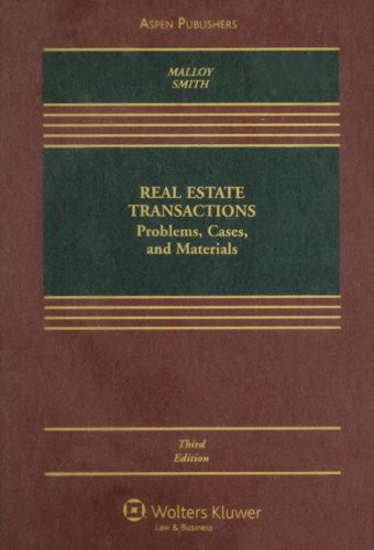 Real Estate Transactions  Problems Cases & Materials