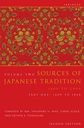 Sources Of Japanese Tradition Abridged Volume 2