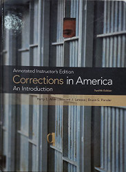 Corrections In America An Introduction - Instructor's