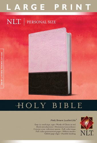 Holy Bible Nlt Personal Size Large Print Edition Tutone
