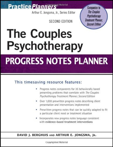 Couples Psychotherapy Progress Notes Planner