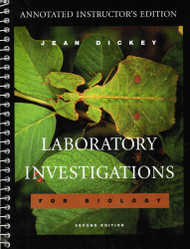 Laboratory Investigations For Biology Annotated Instructor's Edition