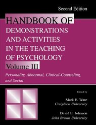 Handbook of Demonstrations and Activities In the Teaching of Psychology Volume 3