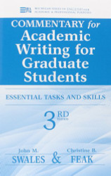 Commentary For Academic Writing For Graduate Students Ed