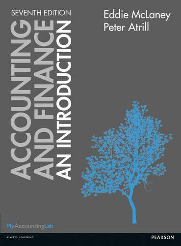 Accounting and Finance An Introduction .