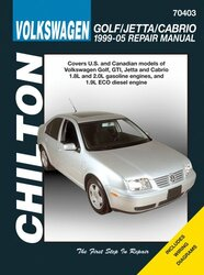 Volkswagen Golf/Jetta/Gti 1999-2005 Repair Manual