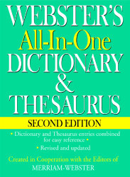 Webster's All-In-One Dictionary And Thesaurus