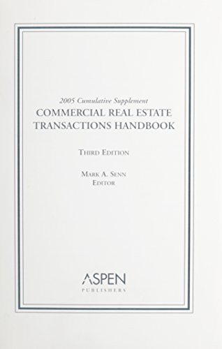 Commercial Real Estate Transactions Handbook