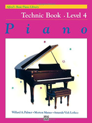 Alfred's Basic Piano Library Piano Course Technic Book Level 4