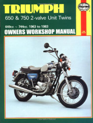 Triumph 650 And 750 2-Valve Twins Owners Workshop Manual No 122