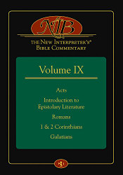 New Interpreter's Bible Commentary Volume IX Acts Introduction to