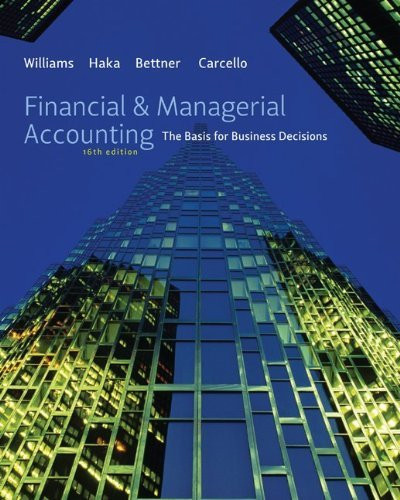 Financial And Managerial Accounting